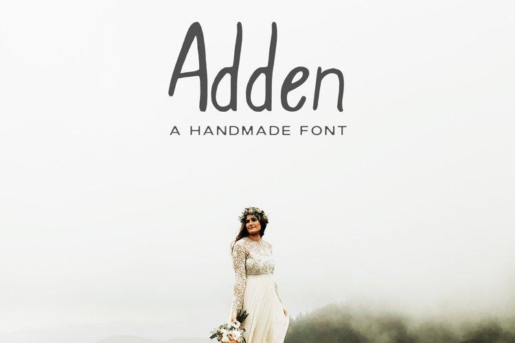 Adden Handmade Sans Serif Font example image 1