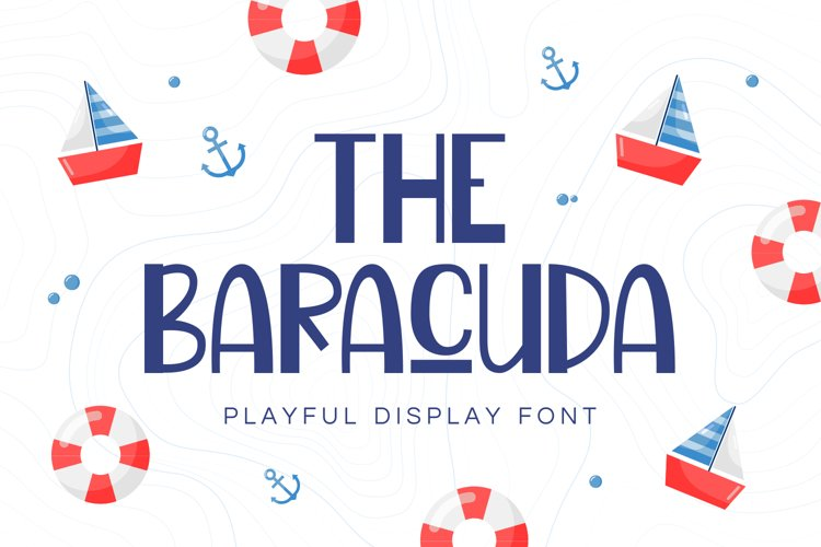 Baracuda - Playful Display Font example image 1