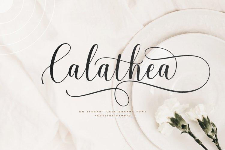 Calathea - Elegant Calligraphy Font example image 1