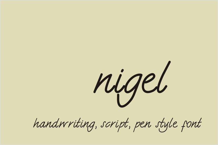 Nigel Font example image 1