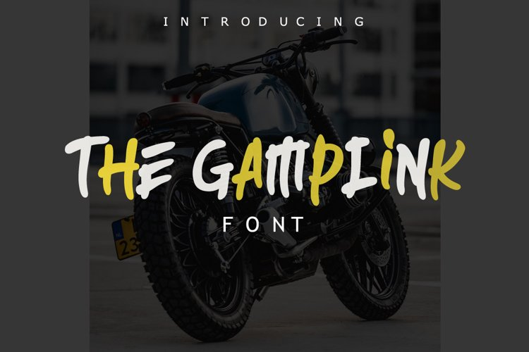 The Gamplink Font example image 1