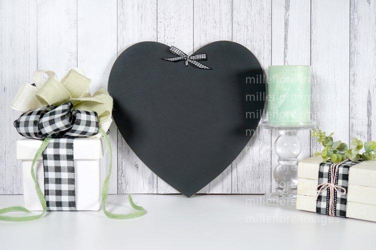 Farmhouse Heart Chalkboard & Gift Craft Mockup Styled Photo