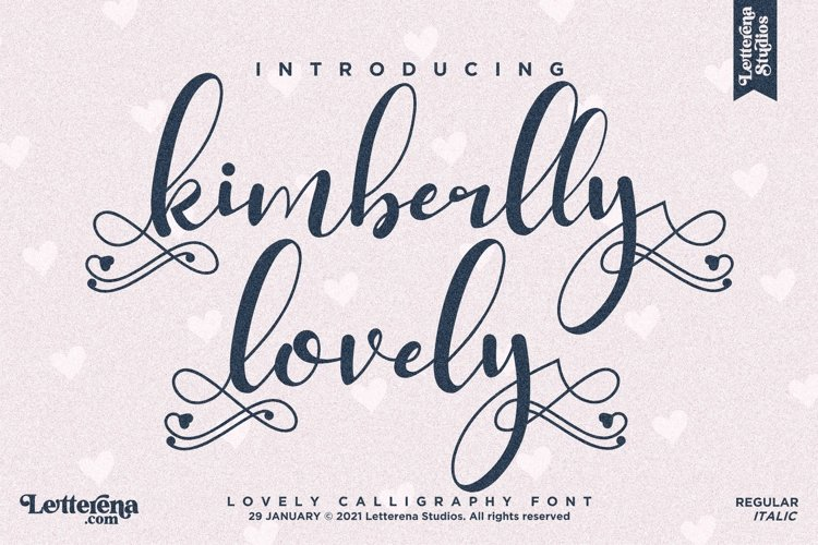 kimberlly lovely - Beautiful Lovely Script Font example image 1