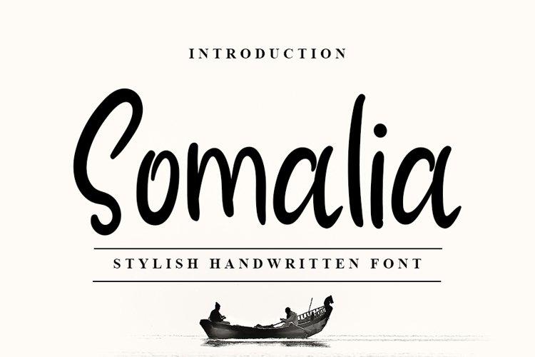 Somalia - Modern Stylish Handwritten Font example image 1