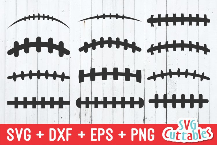 Football SVG | Football Laces Set of 12