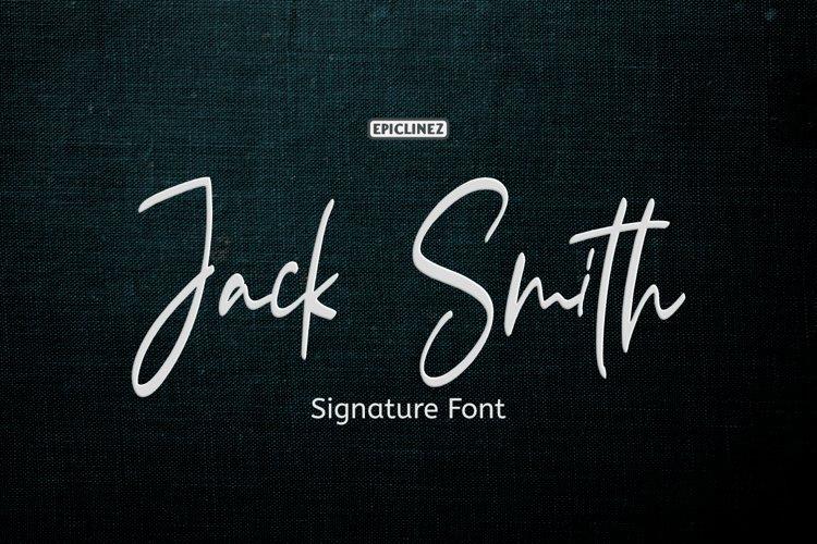 Jack Smith - Signature Script Font example image 1