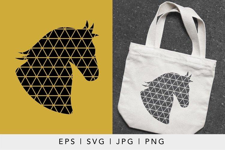 Geometric Horse SVG illustration   Geometric Animals SVG example image 1