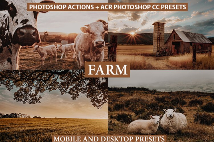 Photoshop Actions ACR Presets lightroom presets Brown Tones