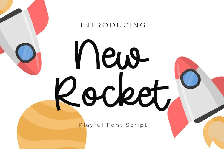 New Rocket Playful Font Script example image 1