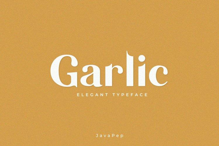 Garlic / Elegant font example image 1