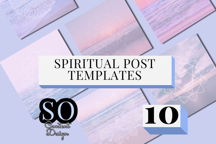 10 Spiritual and Meditation Instagram Template Pack