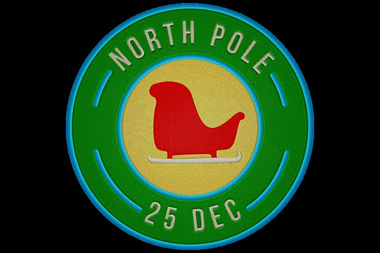 north pole post stamp example image 1