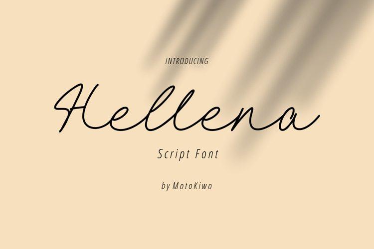 Hellena, elegant script font