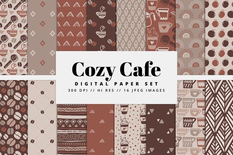 Cozy Cafe Digital Paper Set