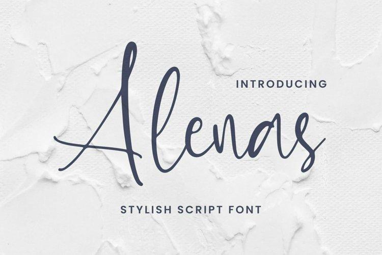 Web Font Alenas Font example image 1