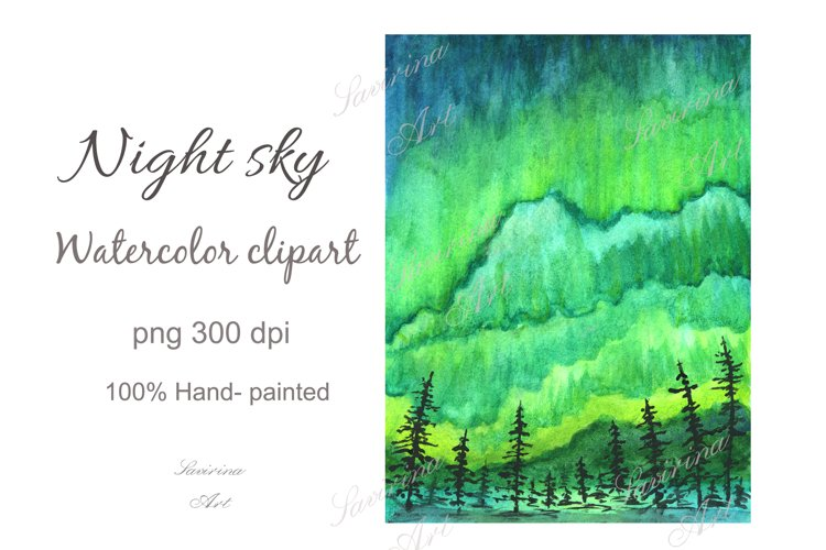 Galaxy watercolor,Night sky painting,Night sky clipart .