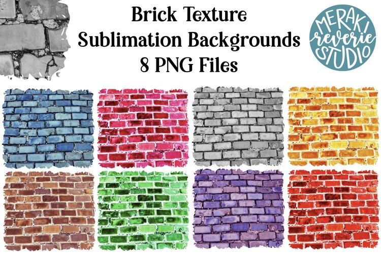 Colorful Brick Backgrounds for Sublimation