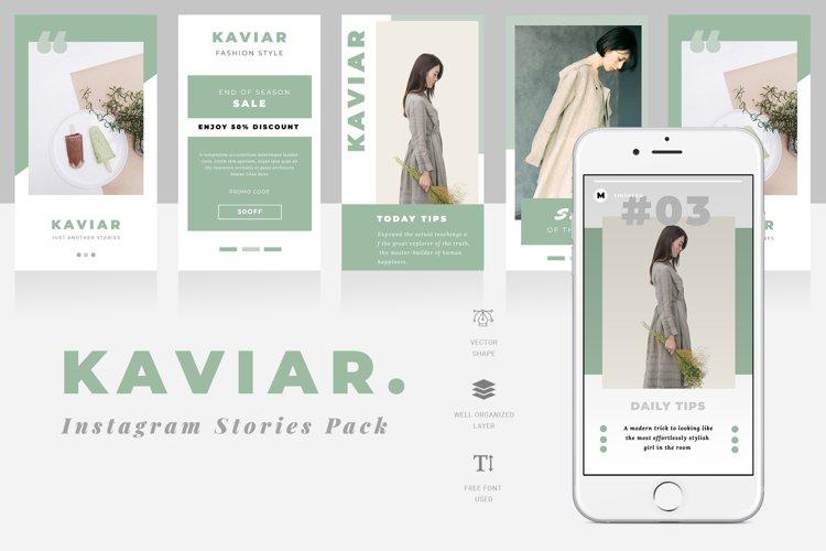Kaviar Instagram Stories Template example image 1