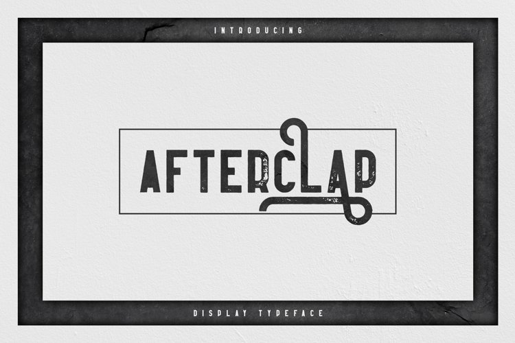 Afterclap typeface - 3 styles example image 1