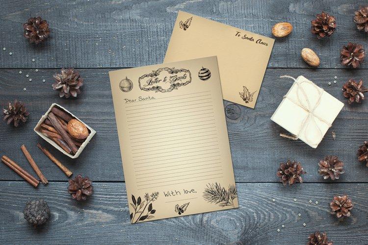 Vintage Printable Letter to Santa and Envelope Template
