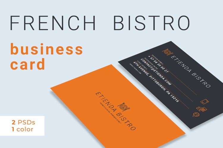 French Bistro Business Card example image 1