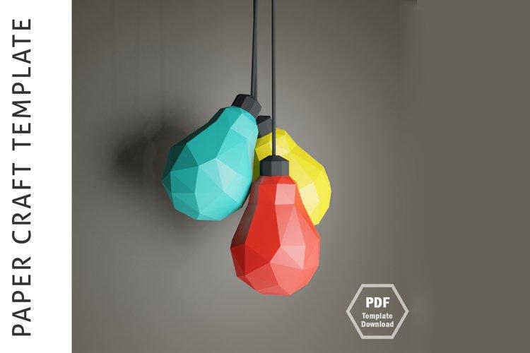 Lowpoly 3D Bulb/Papercraft/3D Papercraft/Papercraft Pdf example image 1