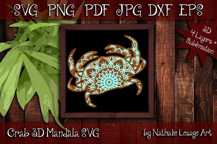 Layered Mandala Crab 3D SVG Beach Design And Sublimation