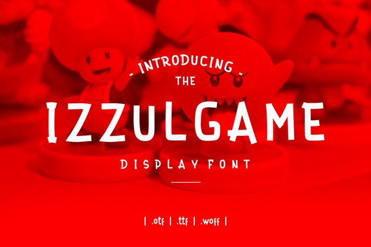 Izzul Game Display Font example image 1
