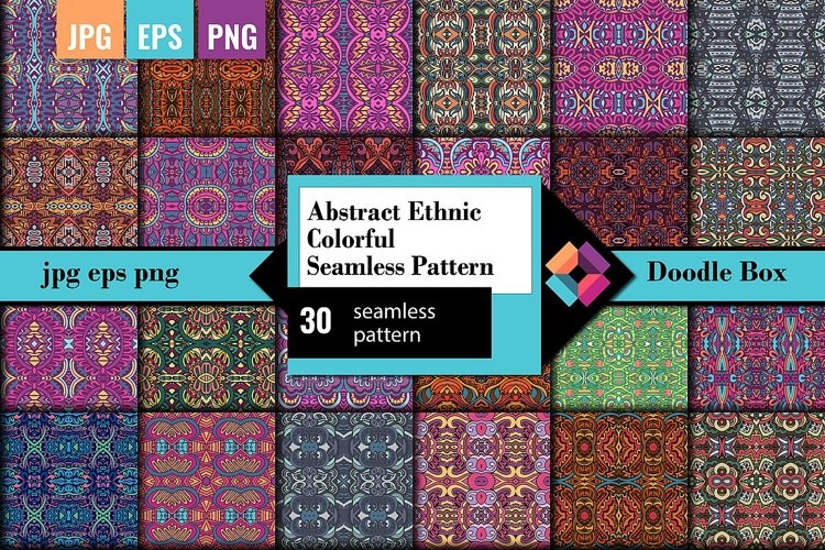 Abstract Ethnic Colorful Seamless Pattern example image 1