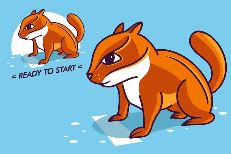 Funny Chipmunk, cartoon character example image 1