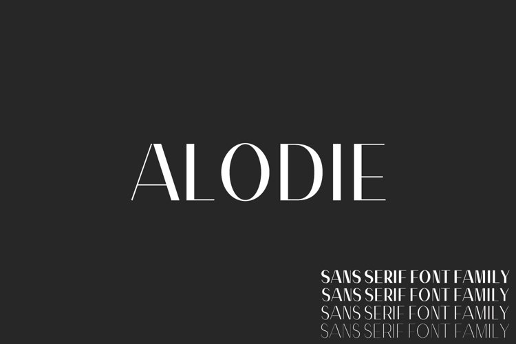Alodie Sans Serif Font Family example image 1