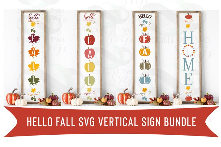 Fall Vertical svg Sign Bundle, 4 Fall Farmhouse svg designs example image 1