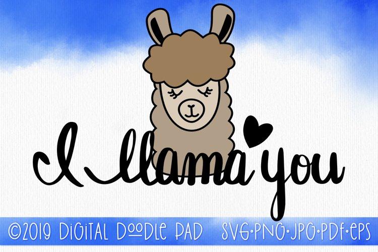 Funny SVG Quote, I llama You