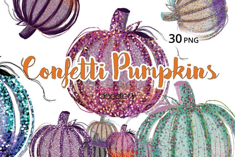 30 Confetti Pumpkins