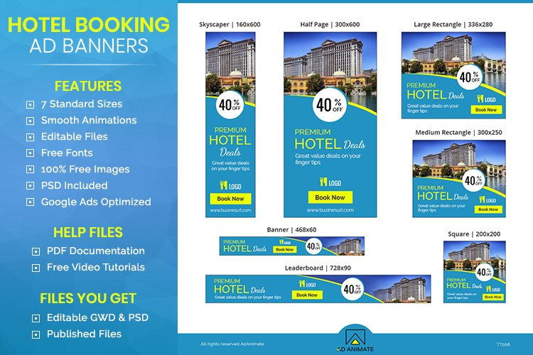 Hotel Booking Banner - Html5 Animated Template example image 1