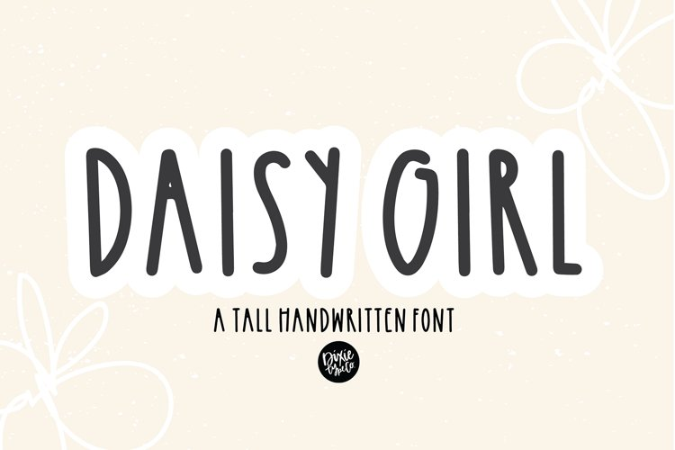 DAISY GIRL a Tall Sans Serif Farmhouse Font example image 1