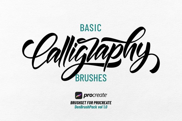 Basic Calligraphy Brushes for Procreate