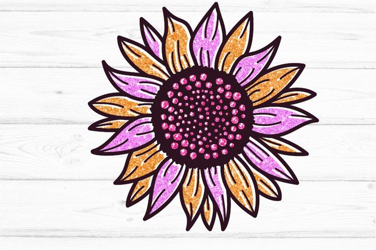Golden Glitter Sunflowers Sublimations mini Bundle, Sunflowe example 4