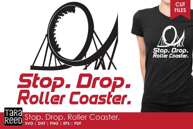 Stop Drop Roller Coaster - Amusement Park SVG and Cut Files