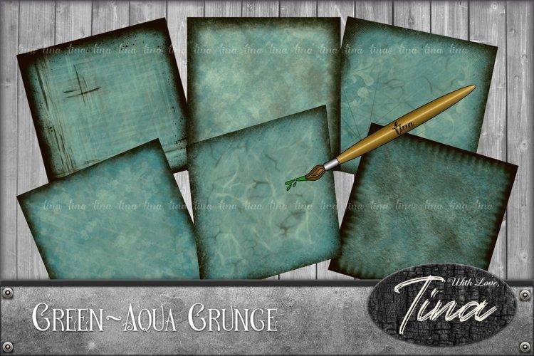 42 Pieces! Grunge Green Aqua Scrapbook, Cards, Invitations, Men, Husband, Son, Background