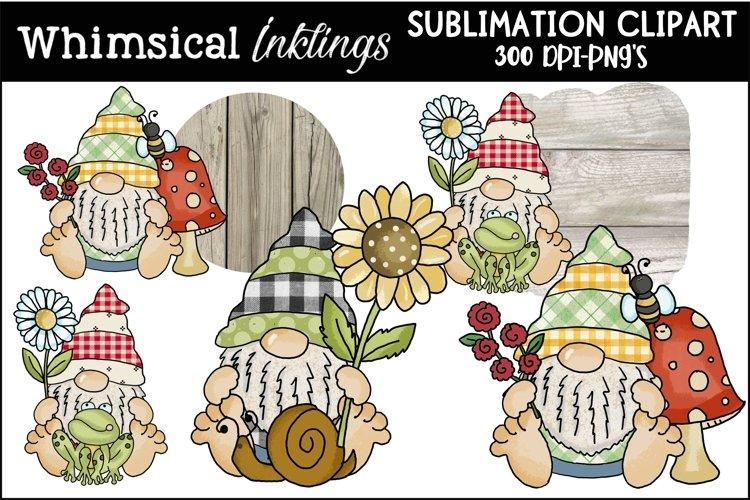 Big Feet Woodland Gnomes Sublimation Clipart