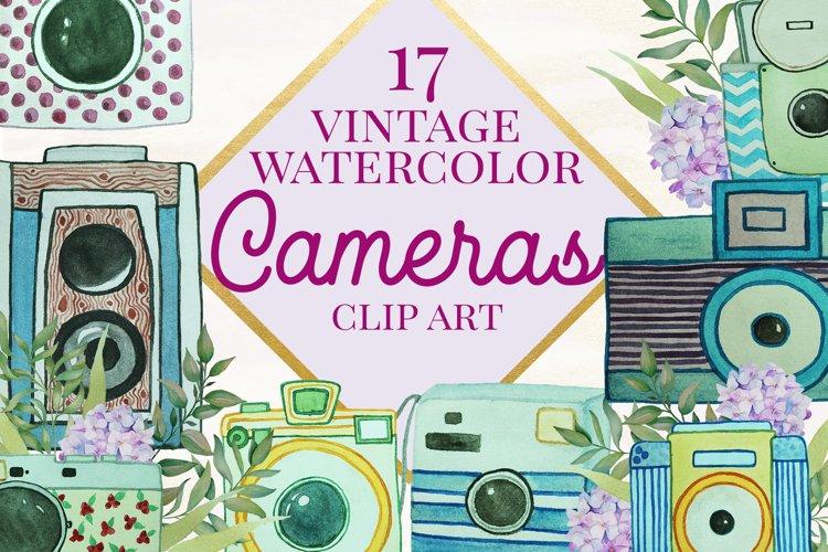 Watercolor Vintage Cameras example image 1