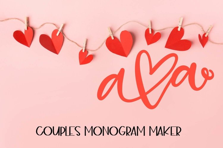 Couples Monograms - Initials perfect for Weddings! example image 1