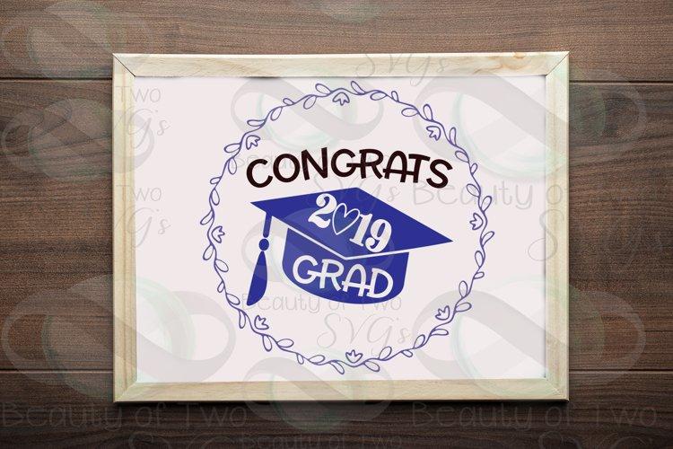 2019 Grad svg and png, Congrats 2019 Graduate svg