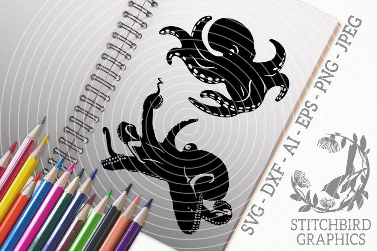 Octopus Bundle SVG, Silhouette Studio, Cricut, Eps, JPEG