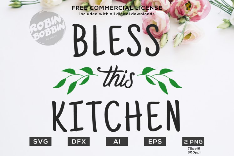 Bless This Kitchen Design for T-Shirt, Hoodies, Mugs example image 1
