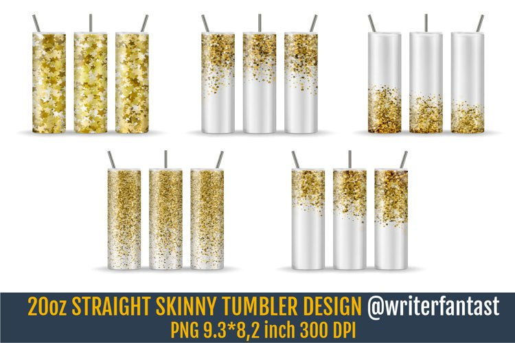 20oz STRAIGHT Skinny Tumbler Sublimation template example image 1