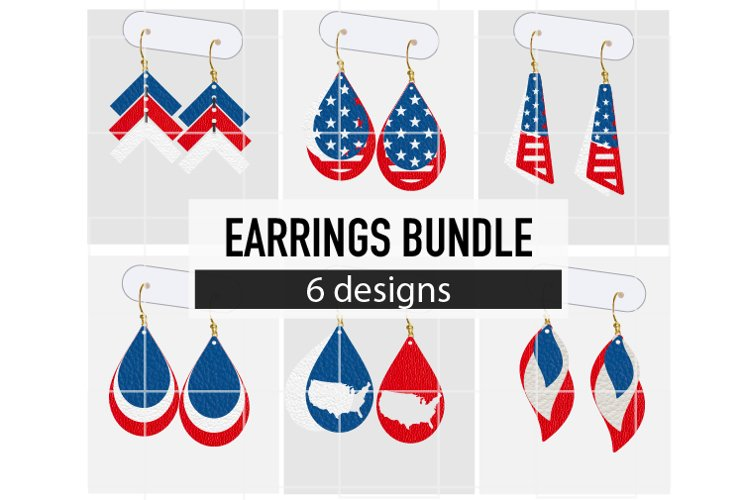 USA Earrings Bundle / Earrings Svg / Earrings Template