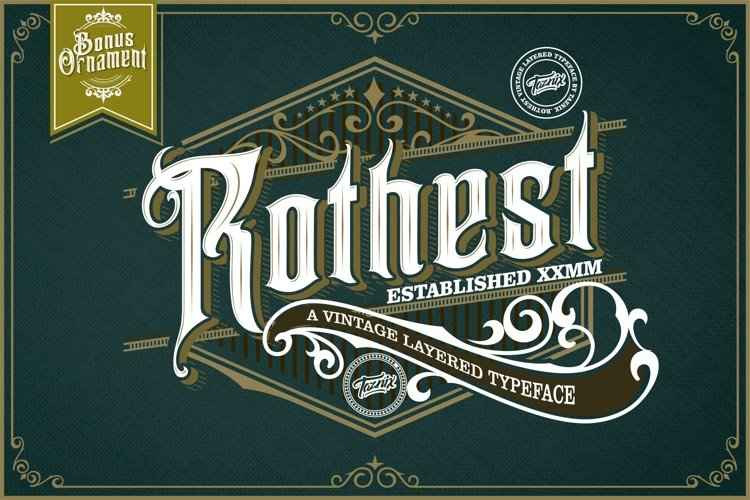 Rothest Vintage Layered Typeface