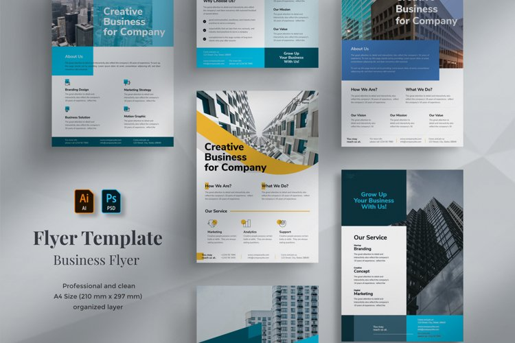 7 Business Flyer Template example image 1
